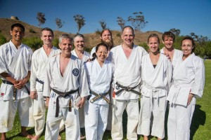 SF dojo members with Godan Dave Altmann at Summer Special Training West 2015