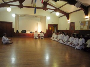 Mokusu (meditation) at our dojo