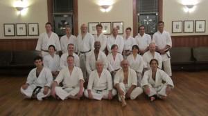 Dojo members with special guest Tom Muzila